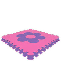 Purple/Pink Flower Economy Reversible SoftFloors