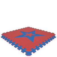 Royal Blue/Red Star Economy Reversible SoftFloors