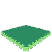 Green/Lime Green Economy Reversible SoftFloors