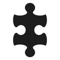 Black Flip-Flop Puzzle Mats