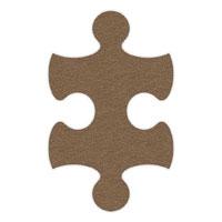 Brown Flip-Flop Puzzle Mats