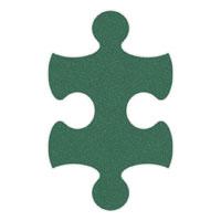 Green Flip-Flop Puzzle Mats