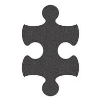 Grey Flip-Flop Puzzle Mats