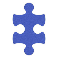 Light Blue Flip-Flop Puzzle Mats