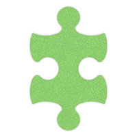 Lime Green Flip-Flop Puzzle Mats