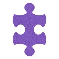 Purple Flip-Flop Puzzle Mats