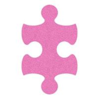 Pink Flip-Flop Puzzle Mats