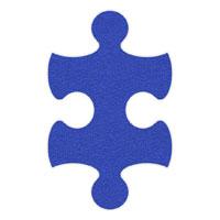 Royal Blue Flip-Flop Puzzle Mats