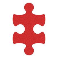 Red Flip-Flop Puzzle Mats
