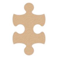 Tan Flip-Flop Puzzle Mats