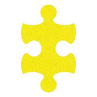 Yellow Flip-Flop Puzzle Mats