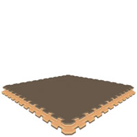 Brown/Tan  Tan/Brown Jumbo Reversible SoftFloors