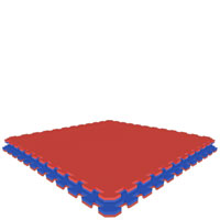 Red/Royal Blue  Royal Blue/Red Jumbo Reversible SoftFloors