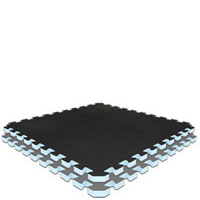 Black/Grey  Grey/Black Jumbo Reversible SoftFloors