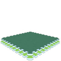 Green/Lime Green  Lime Green/Green Jumbo Reversible SoftFloors