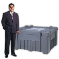 """Jumbo Shipping Tub<br />20 x 30 Molded Case<br />holds 150 2' x 2' pieces<br /> I.D.48"""" x 48"""" x 24""""<br />O.D.51"""" x 51""""x 29""""<br />85 lbs. Shipping Cases"""