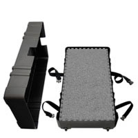 """Portable Wheeled HardCases<br />holds 25 SoftCarpets<br />and when full measures<br />50"""" x 28"""" x 12""""@74 lbs. Shipping Cases"""