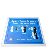 Digitally Printed Blank White SoftFloors SoftLogos