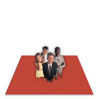 Jumbo Reversible SoftFloors</br>Red/Royal Blue Trade Shows<br>Exhibits & Events