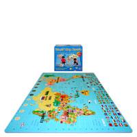 "Style 1355Jumbo World Map SoftFloors<br /> 4' x 6'6"" x 5/8""<br /> 60 pieces WorldMap"